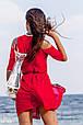 Короткая пляжная шифоновая туника с сумкой в комплекте, фото 3