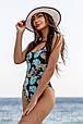 Слитный женский купальник со стильным принтом, фото 2