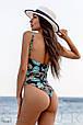 Слитный женский купальник со стильным принтом, фото 3