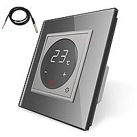 Терморегулятор сенсорний Livolo для електричного теплого статі з датчиком сірий (VL-C701TM2-15)