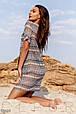 Короткое пляжное платье-туника с коротким рукавом, фото 2