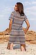 Короткое пляжное платье-туника с коротким рукавом, фото 3