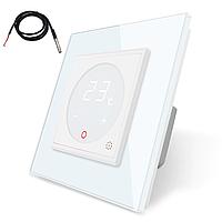 Терморегулятор сенсорный Livolo для электрического теплого пола с датчиком белый (VL-C701TM2-11), фото 1