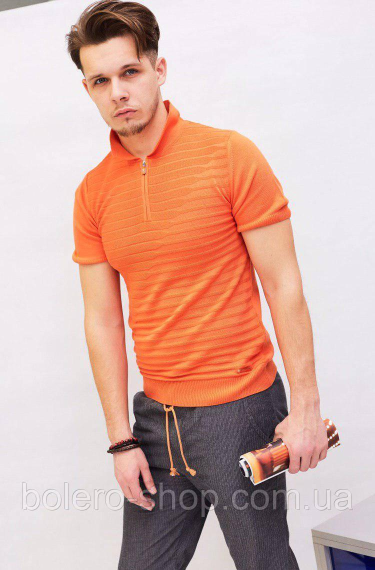 Мужская футболка поло Castello d'Oro оранжевая
