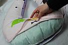 Подушка для беременных и кормящих мам, подкова, П-образная, детей, ортопедическая, кормления, Green Tale, фото 7