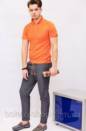 Мужская футболка поло Castello d'Oro оранжевая, фото 2