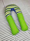 Подушка для беременных и кормящих мам, подкова, П-образная, детей, ортопедическая, кормления, Green Tale, фото 4