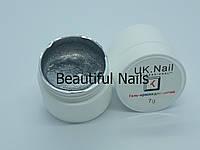 Гель-краска для ногтей UK.Nail №06 цвет серебро,7 грамм