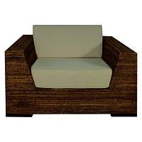 Кресло из абаки с подушками