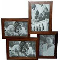 Фоторамка семейная на 4 фото (дерево)№6287,отличный подарок,деловые подарки