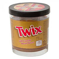 Шоколадная паста Twix With Crunchy Biscuit Pieces с карамелью и кусочками печенья, 200 гр.