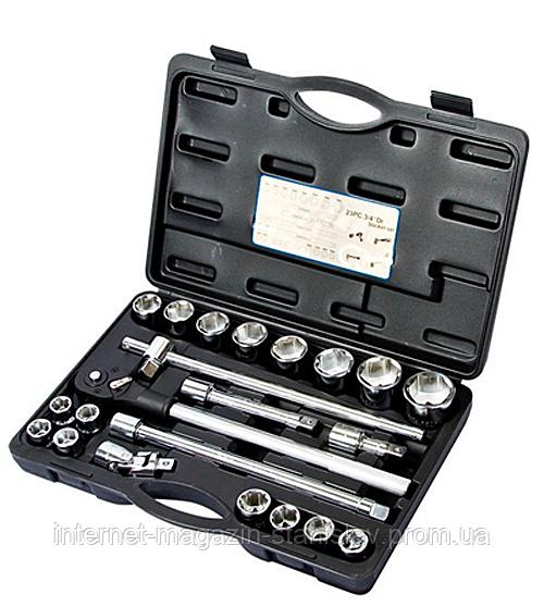 """Набор инструмента Alloid 3/4"""" 23 предмета 19-50 мм. НГ- 6023М"""