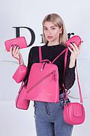 Набор  6 в 1  сумка рюкзак клатч косметичка кошелек  кошелек
