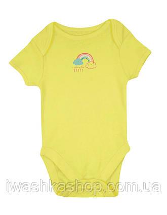 Яркое желтое боди с коротким рукавом для малышей 6 - 9 месяцев, р. 74, Early days by Primark, Германия