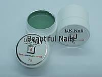 Гель-краска для ногтей UK.Nail №10 цвет морская волна,7 грамм
