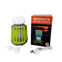 Фонарь для кемпинга KILNEX USB 2000 mAh с функцией уничтожения комаров + приманка имитирующая запах человека Зеленый (KL 200)