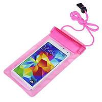 Водонепроницаемая сумка для телефона и документов Marble розовый жемчуг, фото 1