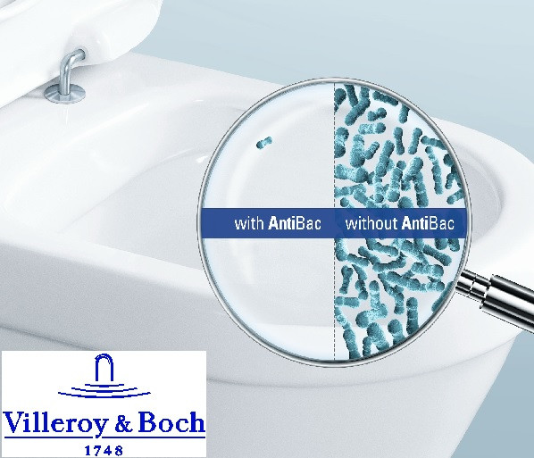 Захист від бактерій – це Villeroy & Boch з революційною технологією антибактеріального покриття AntiBac.
