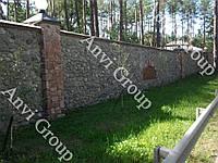 Кладка бутового камня цена. Забор из бута. Фото. Киев