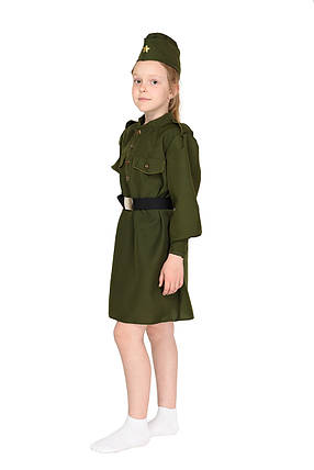 Карнавальный костюм Военного, солдата для девочки Рост 124-130 см, фото 2