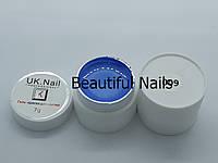 Гель-краска для ногтей UK.Nail №09 цвет светло-голубой,7 грамм