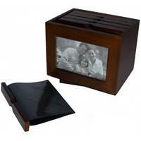 Деревянный фото архив №9143,архив на 120 фото ,отличный подарок,деловые подарки