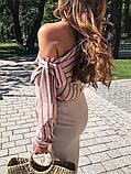 Рубашка полосатая розовая, фото 2
