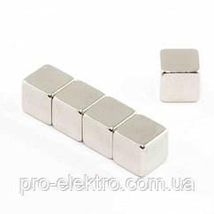 Неодимовий магніт куб 10х10х10 мм