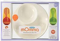 Термо-тарелка Lansinoh Momma с приборами, 6+, фото 1