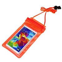 Водонепроницаемая сумка для телефона и документов Marble Waterproof оранжевый, фото 1