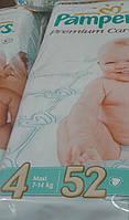 Детские подгузники Pampers premium care 4ка 52шт
