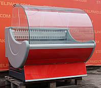 Холодильная витрина гастрономическая «Cryspi Prima» 1.3 м. (Россия), Очень широкая выкладка 80 см., Б/у, фото 1
