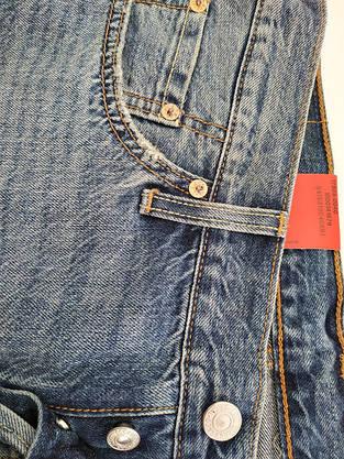Джинсы женские Levi's 501CT  /W27 L34/Tapered Leg/Button-Fly/White oak/Selvedge/Оригинал, фото 3