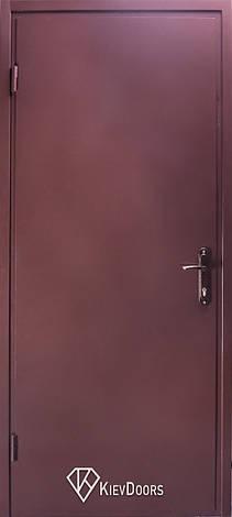 Двери Техничка Однолистовая, РАЛ 8017 снаружи лист металла 1,2 мм, коробка профиль 60*40 мм, фото 2