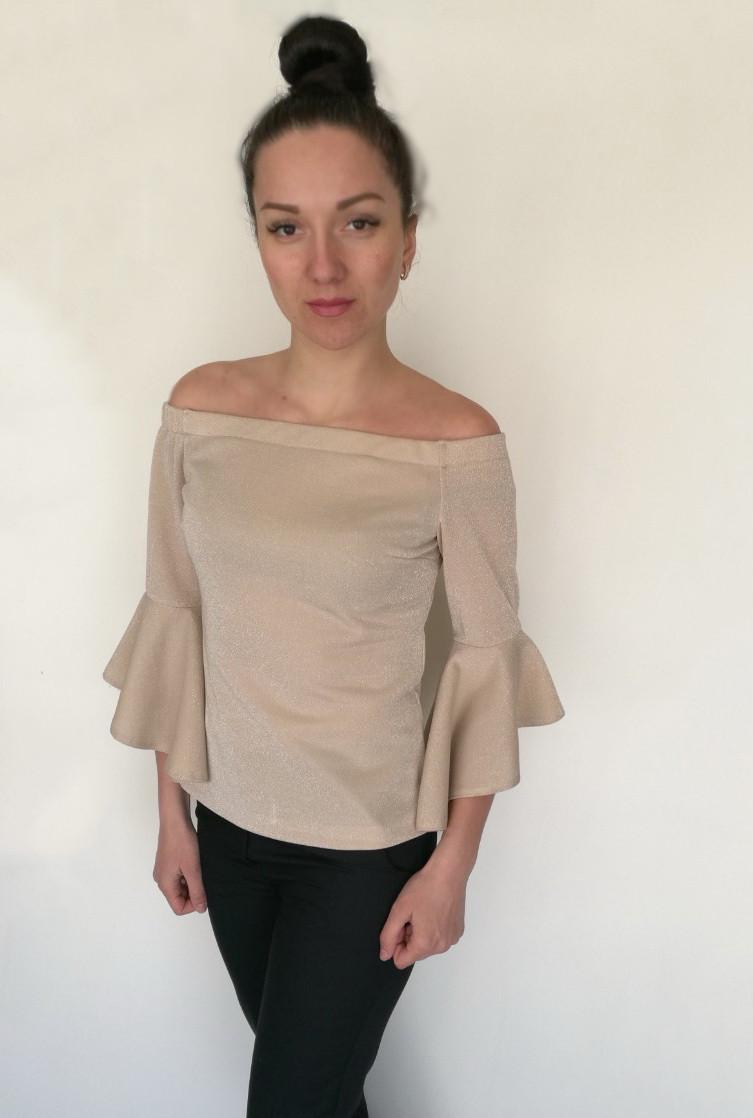 Блуза Oscar Fur БВ -1 Светло - бежевый