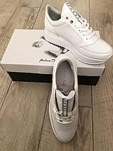 Кроссовки белые на платформе Selesta 1201, фото 2