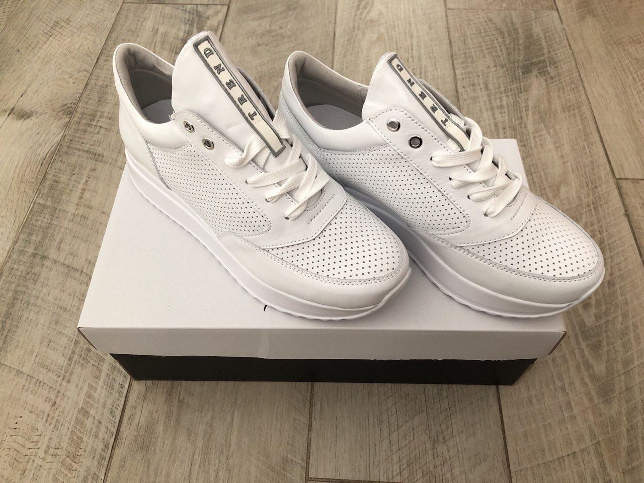 Кроссовки белые на платформе Selesta 1201