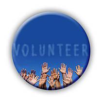 Значок Volunteer. Волонтёр