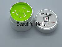 Гель-краска для ногтей UK.Nail №11 цвет кислотно-лимонный,7 грамм