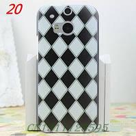 Оригинальный бампер панель накладка чехол для HTC one 2 M8 Геометрический узор