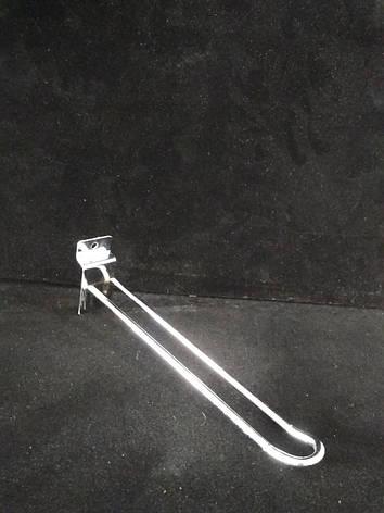 Двойной крючок с креплением в экономпанель 15см., фото 2