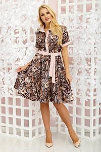 Платье клеш  Молли леопард