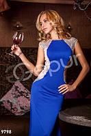 Женское вечернее платье в пол без рукавов с открытой спиной на молнии и пуговице застежка микродайвинг, фото 1