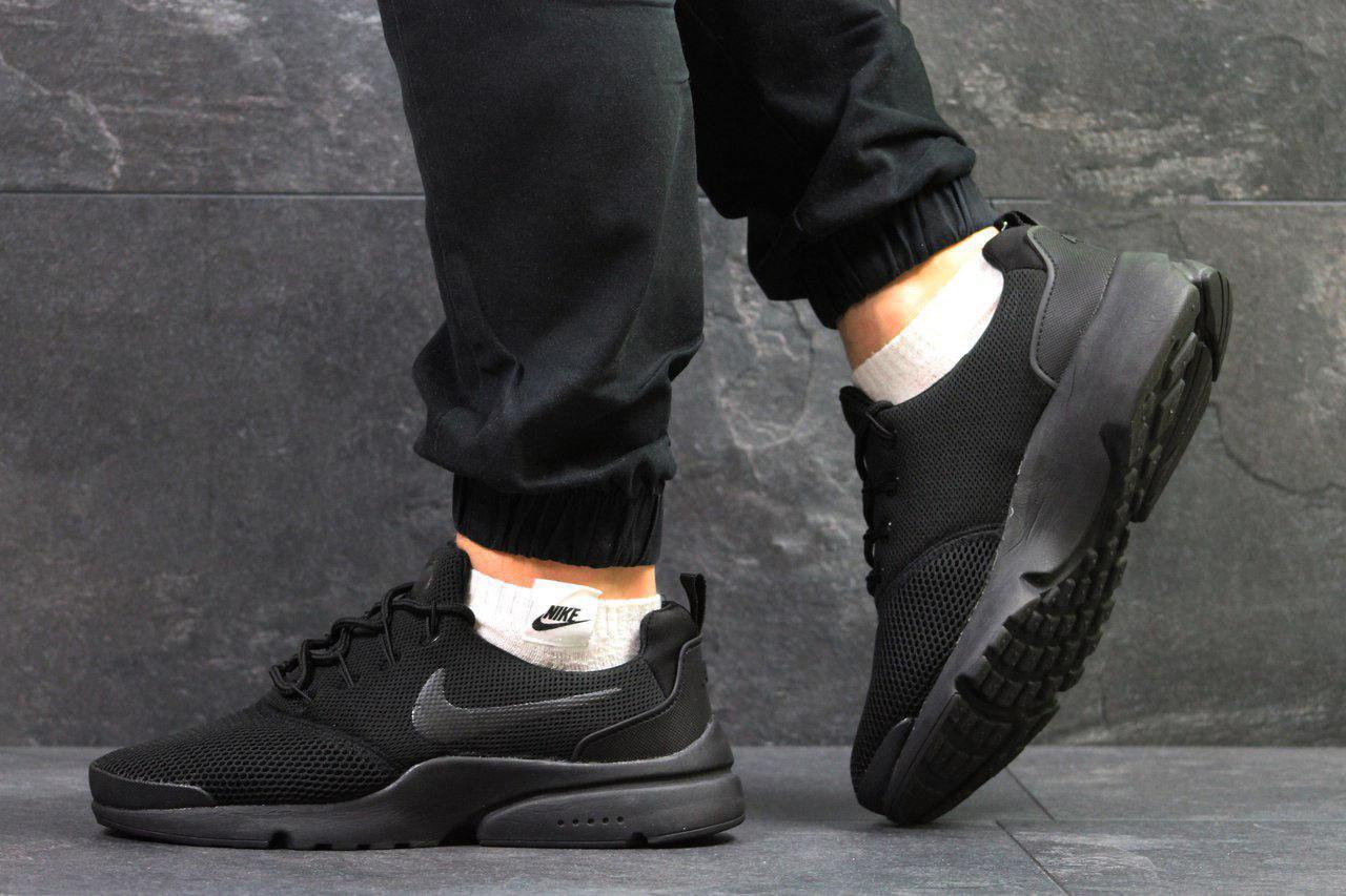 new style ea9ae 4bdf3 Мужские кроссовки в стиле Nike Air Presto Fly Uncaged Black, черные - Super  Star в