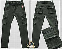 Джинсы мужские ITENO Tophero с накладными карманами хаки