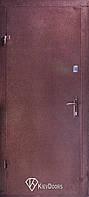 Двери ТИТАН (Металл+МДФ), РАЛ 8017, одинарная, эконом, один контур уплотнения