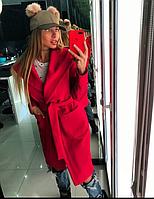 Кашемировое Пальто oversize  с капюшоном