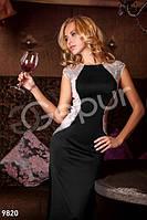 Женское вечернее платье в пол без рукавов с открытой спиной на молнии и пуговице застежка микродайвинг