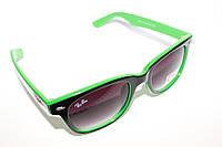 Солнцезащитные очки Ray Ban Wayfarer Черно зеленые хит 2015г