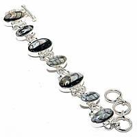 """Шикарный серебряный браслет с ортоцерасом  """"Звуки моря"""" ,  от студии LadyStyle.Biz"""